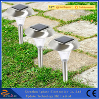 Stainless Steel Landscape Outdoor Solar LED Garden Path Stake Lights