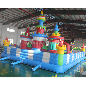 TWO slides outdoor/indoor inflatable water park playground for kids