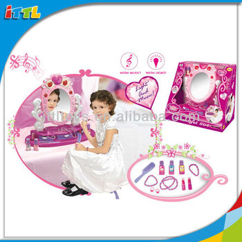 Play house music dresser table beauty set toy for girls for Play house music