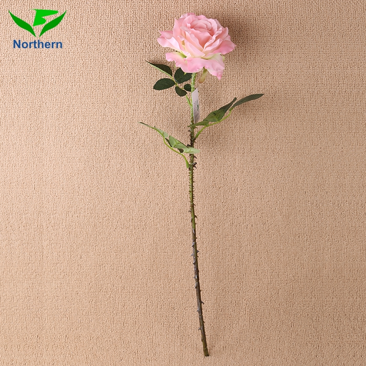 Beautiful design Cheap Wholesale artificial roses silk leaf flower wedding
