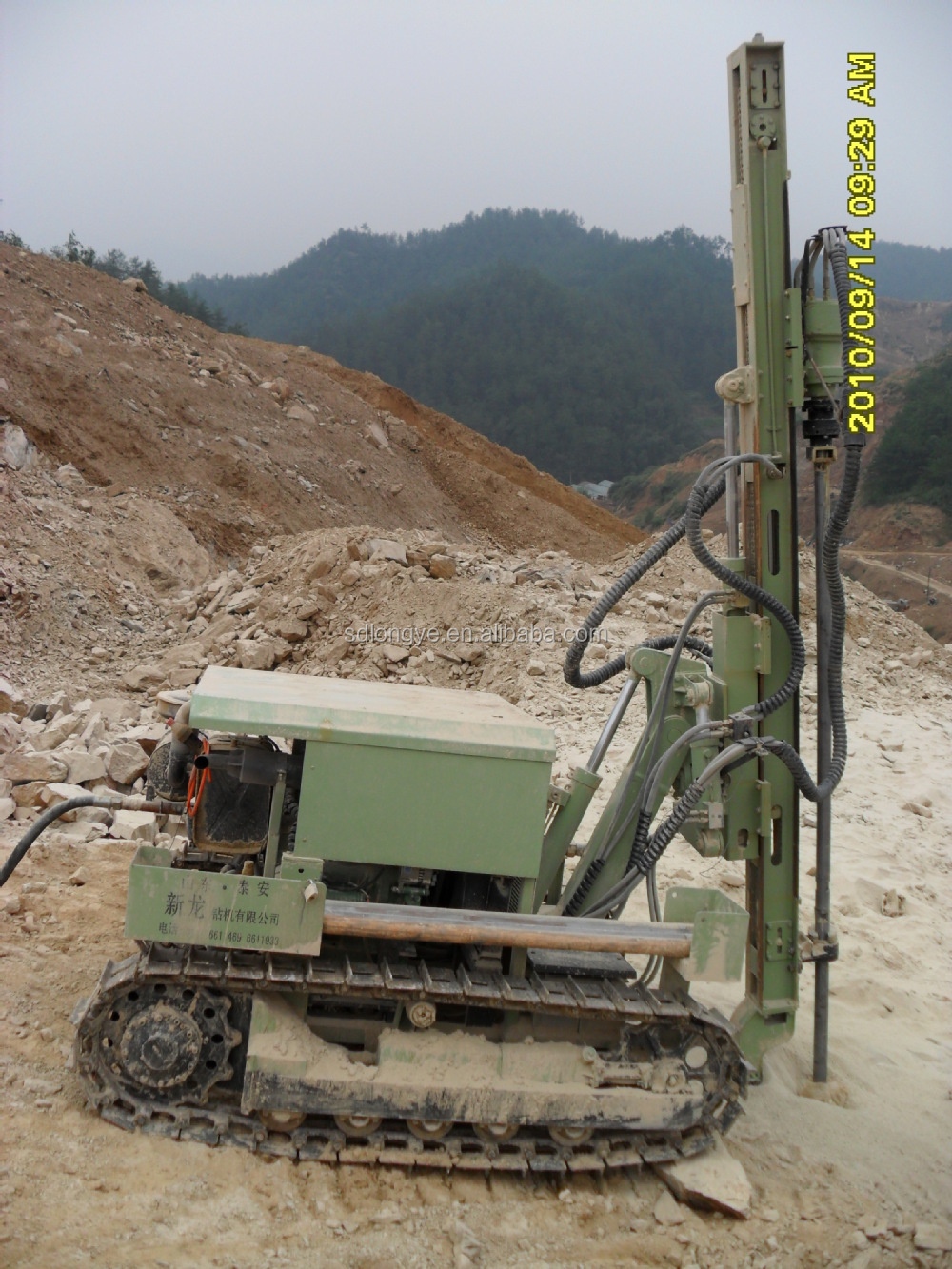 30m depth hydraulic blast hole dth drilling rig on sale