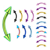 16G Anodized Bent Barbell Spike Eyebrow Piercing Jewellery
