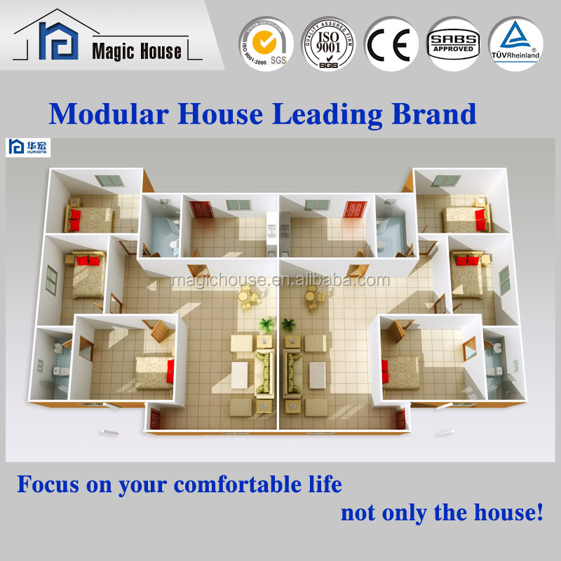 Modern Construction Real Estate and Prefab House Manufacturer for New Patented Foamed Cement Board House