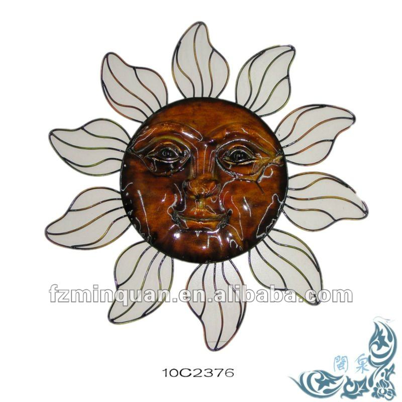 Sun Face Metal Outdoor Wall Art