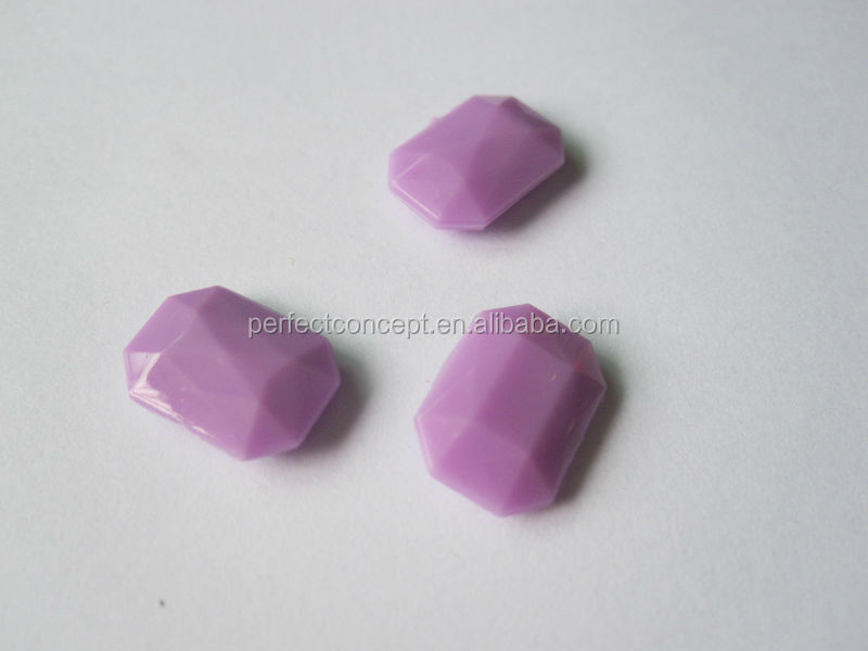 wholesale light purple rectangle acrylic stones for bags clothes
