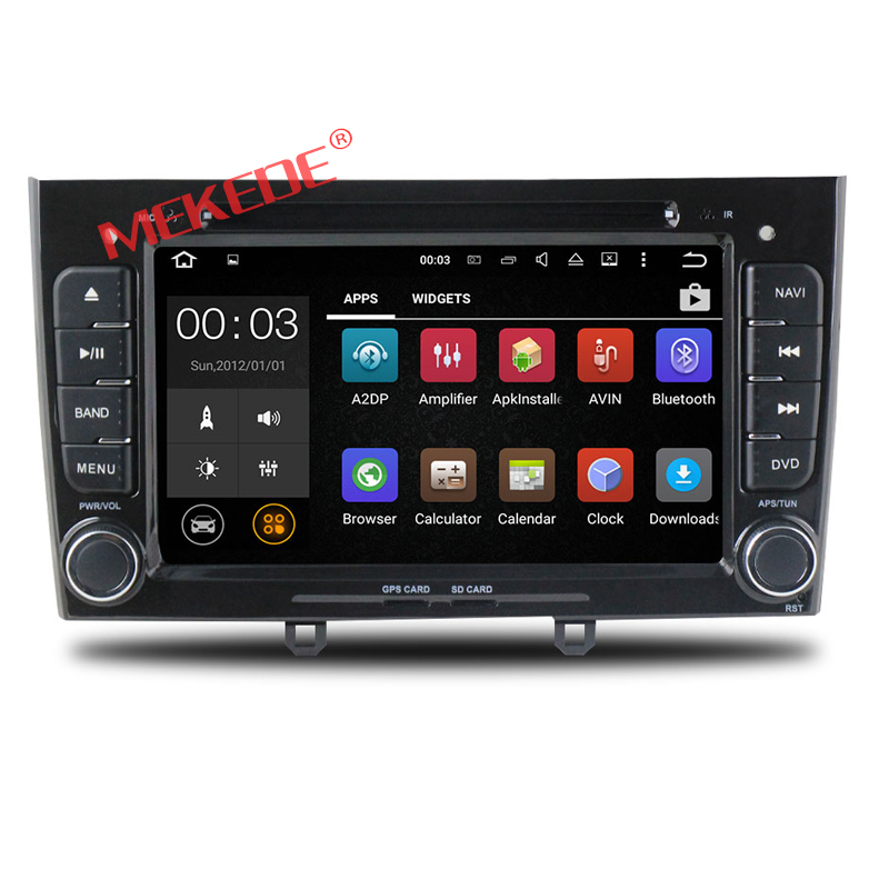 Android 7.1 Factory price 2din Car DVD GPS navigator audio For Peugeot 308 408 with 4G WIFI BT dvd player radio 2GRAM HD1024*600