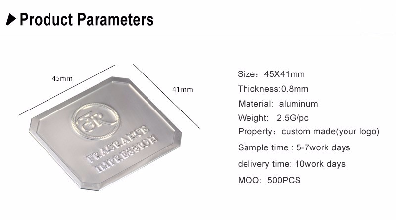 OEM Manufacture Custom Design Etching Stainless Steel Name Plate from SinoGuide
