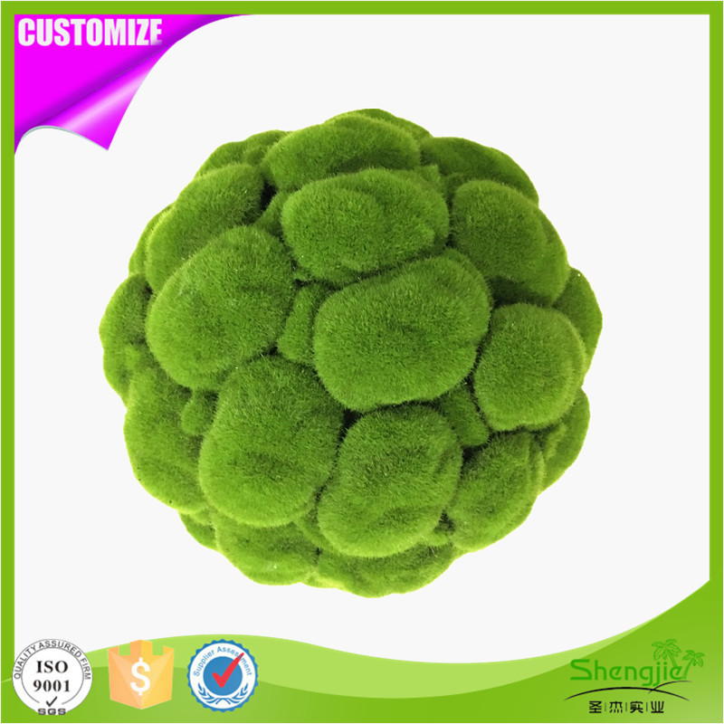 Factory direct sale garden decorative artificial green moss topiary balls
