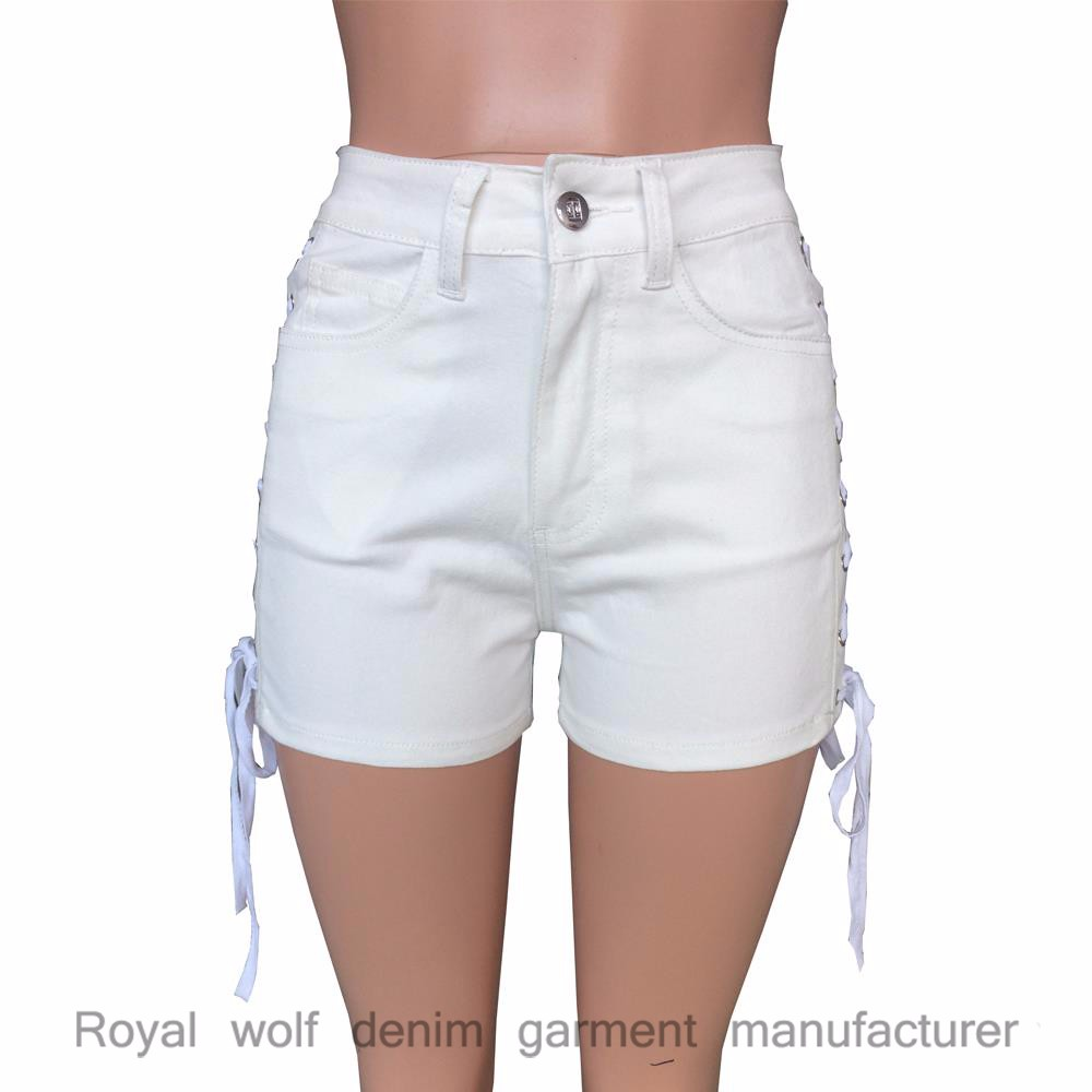 2018 shoes best supplier half price D&s Factory Dropshipping Bulk Wholesale Cotton Short Shorts Dropshipping  White Denim Lace Up Women's Jeans Shorts - Buy Women's Jeans Shorts,Lace Up  ...