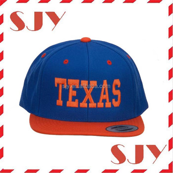 Texas Ricamato Two Tone Cappello di Snapback Cap Hip Hop All'ingrosso