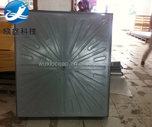 Good tooling / mold square vacuum formed grey plastic cover with texture