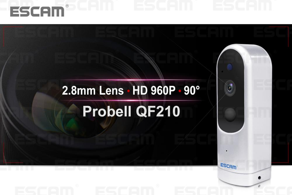 ESCAM Probell QF210 IP IR Surveillance Camera 960P HD 3000mAh CCTV Camera