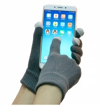 Customized 3 or 5 Fingers Winter Acrylic Unisex Cell Phone Smartphone Iphone Texting Touchscreen Gloves Touch Screen Gloves