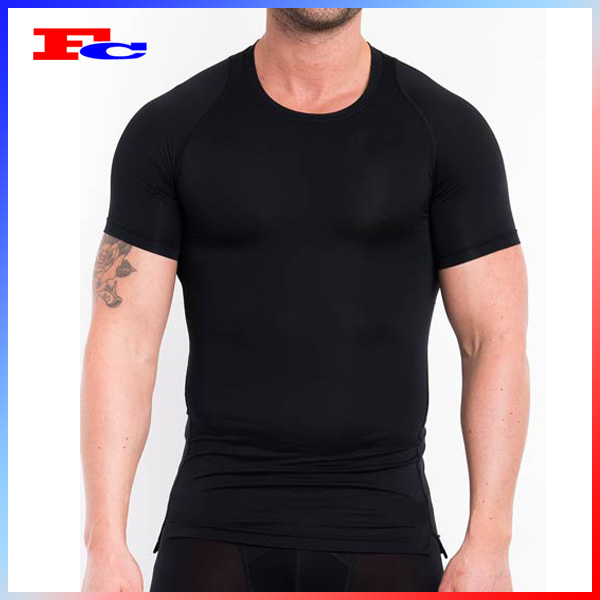 Black Compression Shirt/Moisture Fit Compression Wear/Mens Tights Compression Garment