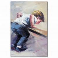 Abstract kids canvas painting wall art cheap for kids room