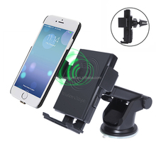 Adjustable Wireless Charging Suction Cup Car Holder Mobile Phone Car Charger for iPhone 8 Plus X Samsung