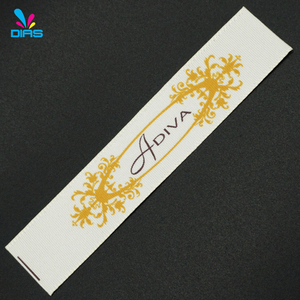 Promotional high quality cheap cotton clothes printed labels and tags