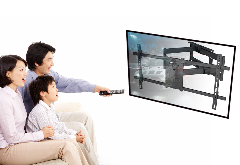 New Design Swivel Dual Long Arm Full Motion Cantilever TV Wall Mount