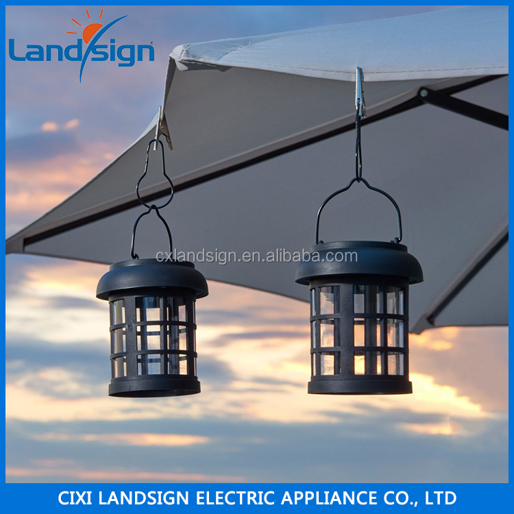 Hot Sale Vintage Lighting Outdoor Solar LED Lantern Umbrella Hanging Garden Patio Backyard Light