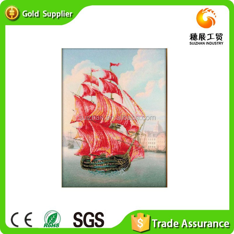 Supplier of wall art decor handmake crystal diamond painting oil painting as seascape