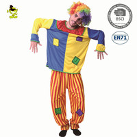 Man carnival funny cosplay costume man Men clown fancy costumes