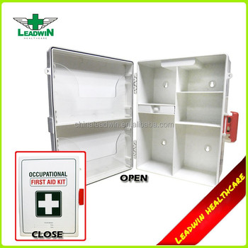 Empty Wall Mounted Plastic First Aid Box For Workplace - Buy First Aid  Box,Plastic First Aid Box,Wall Mounted Plastic Storage Box Product on