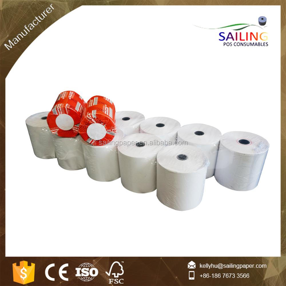 "44mm (1 3/4"") x 230' cheap ncr thermal cash register paper rolls"