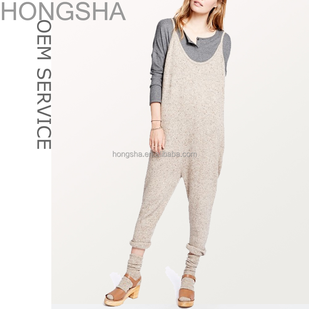 Women Jumpsuit Adjustable Straps Patch Pockets Custom Adult Onesie HSD1306