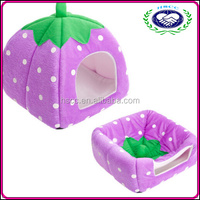 Wholesale cheap lovely colorful strawberry ger pet bed