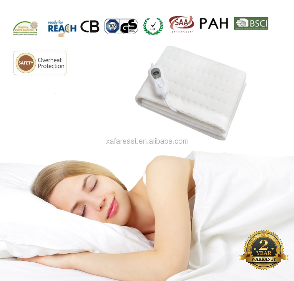 Factory Supply 100% Polyester king Electric Blanket Heating Under Blanket for cold winter