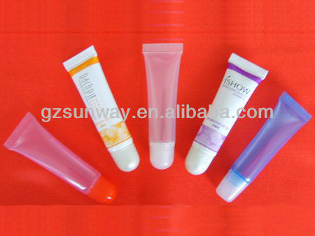 custom empty plastic lip gloss tubes