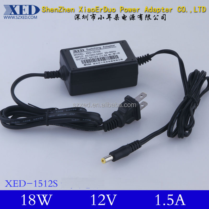 90v/264v Ac Input Power Adapter 12v Dc Output 18w