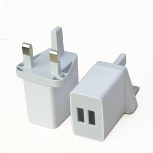 5V 2.1A Dual USB Port Mobile Phone Travel Wall Charger UK Plug