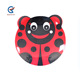 Children Personalized Plates cute ladybug red tiger owl print BPA-free melamine plate for kids