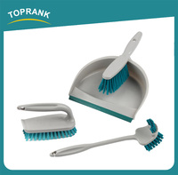 Toprank Household Cleaning Brush Set Mini Folding Broom And Dustpan Set Plastic Broom Handle With Broom Brush