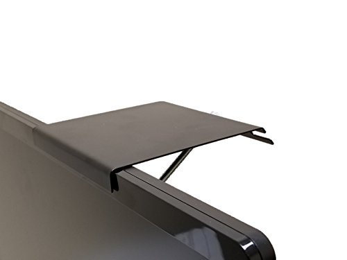Universal Shelf for Small Cable Box Satelite Receiver or Streaming Media Devices for nearly any thin flat panel TV - TOPshelf 1 Pack