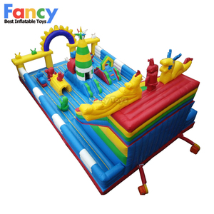 FT-12 big discount inflatable playground/kids play obstacle/trampoline inflatable