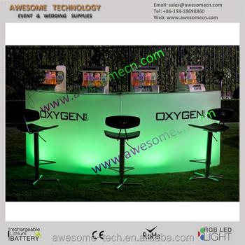 Plexiglass Illuminated RGB 6u0027 White BAR