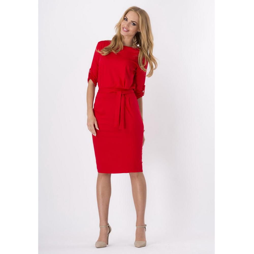3ec8c4f731 Summer Knee Length Dress Women Solid Casual Slim Waistband Dresses ...