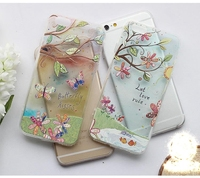 2016 New Flower Butterfly Printed Phone Case Ultra thin Back Cover Transparent Soft TPU Case For iPhone 5 6 6 plus CA1600