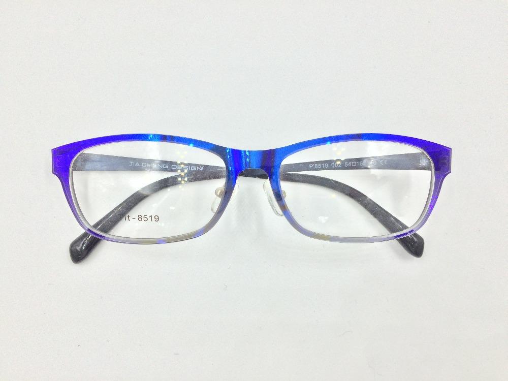 De duas cores transparente fina armação de acetato, templos de metal armação  de óculos óptica a19ca2fb1d