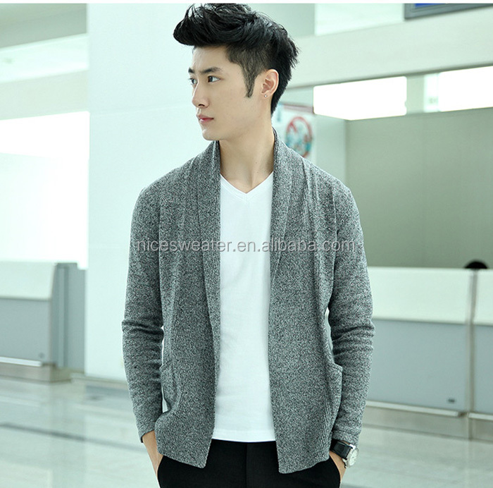Latest Design Mens No Button Sweater Fashion Plain Knit Buttonless ...