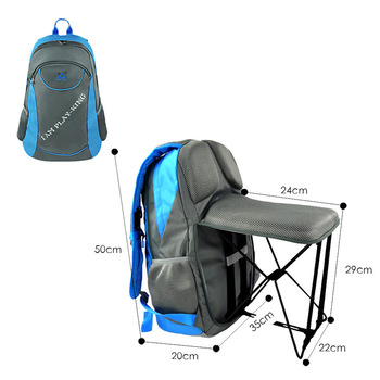 Multi-function Outdoor Fishing Back Pack Chair Sports Hiking Folding Chair Backpack