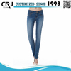 OEM Service Acid Washed Ripped Jeans For Girls