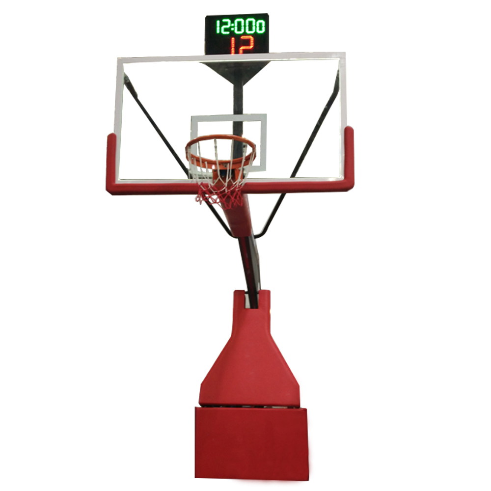 Remote control electric hydraulic movable basketball stand hoops