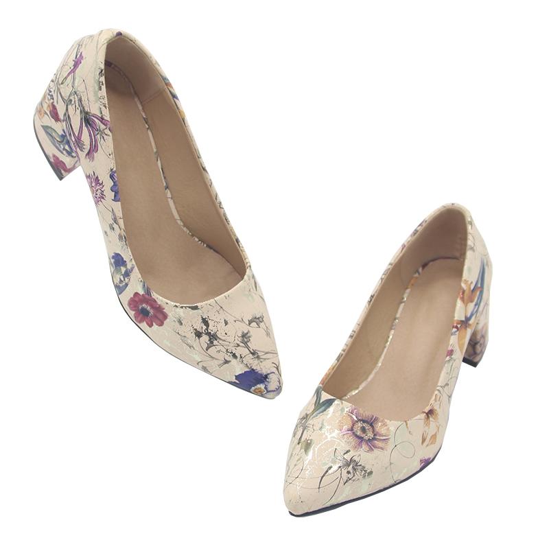 2fa9591da2c8 Custom Women Block Low Heel Pump Shoes Ladies Office Dress Shoes ...