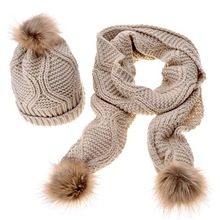 fashion winter wholesale hat and scarf sets