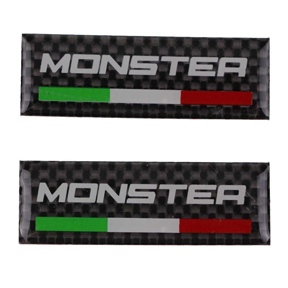 Get Quotations · PRO-KODASKIN Motorcycle 3M Carbon Italy Handlebar Clamp  Tank Sticker Emblem Decal for Monster 400