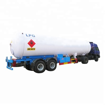 52.6 m3 Top LPG Tanker Semi Trailer with 3 Axle