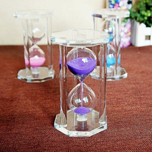 30 minute clear crystal Sand Clock Resin timer Clock hourglass Home Office Decoration Gift Transparent sandglass